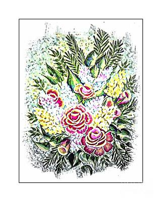 Christina Digital Art - Christina's Bouquet 2 by Barbara Griffin