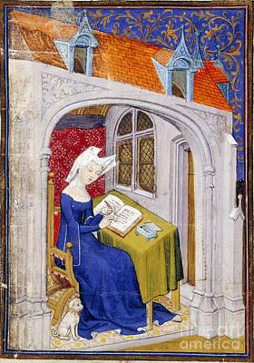 Writing Room Photograph - Christine De Pizan, Medieval Author by British Library