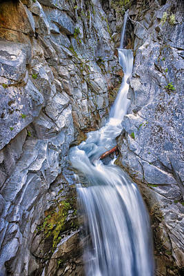 Waterfall Photograph - Christine Falls In Mount Rainier National Park by Adam Romanowicz