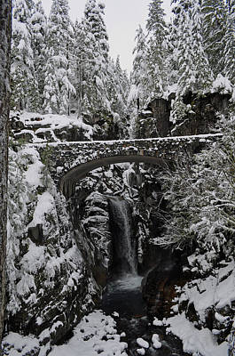 Print featuring the photograph Christine Falls In The Winter by Tikvah's Hope