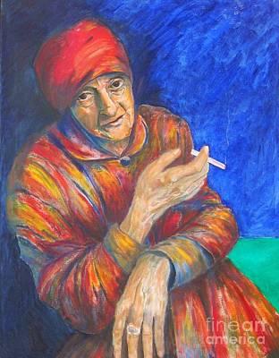 Painting - Christine Lavant by Dagmar Helbig