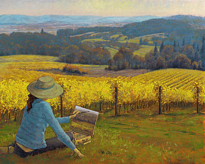 Wine Painter Painting - Christine's New World by Michael Orwick