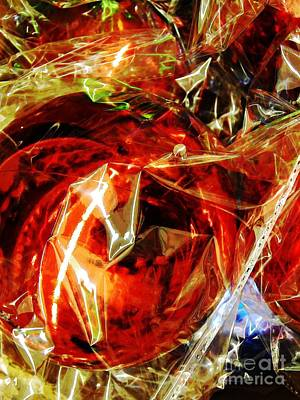 Cellophane Photograph - Christmas Abstract 27 by Sarah Loft