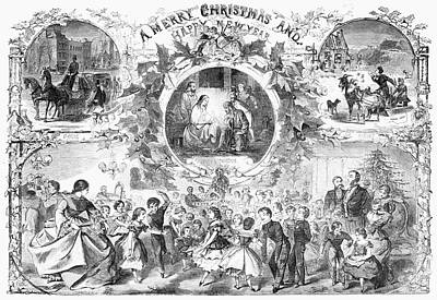 Party Scene Painting - Christmas, 1859 by Granger
