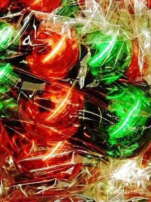 Cellophane Photograph - Christmas Abstract 26 by Sarah Loft