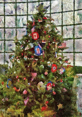 Photograph - Christmas - An American Christmas by Mike Savad