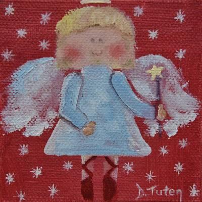 Christmas Angel Art Print by Donna Tuten