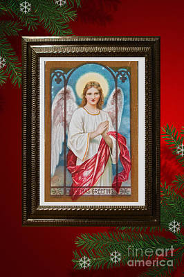 Christmas Angel Art Prints Or Cards Art Print by Valerie Garner