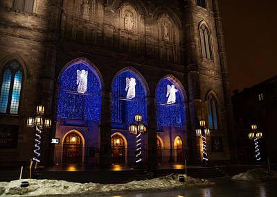 Old Montreal Photograph - Christmas Angels - Notre-dame De Montreal Basilica by Georgia Mizuleva