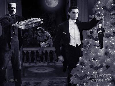 Dracula Digital Art - Christmas At Dracula's by Joseph Juvenal