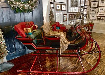 Resurrecting Photograph - Christmas At Historic Bedford Springs by William Rockwell