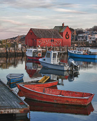 Photograph - Christmas At Motif1 Rockport Massachusetts by Jeff Folger