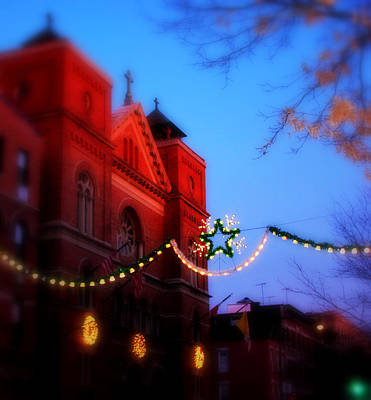 Art Print featuring the photograph Christmas At Our Lady Of Mount Carmel  by Aurelio Zucco