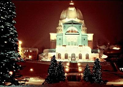 Photograph - Christmas At St. Joseph's Oratory by George Cousins