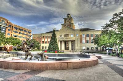 Photograph - Christmas At Sugar Land City Hall by David Morefield