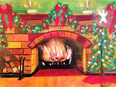 Christmas At The Cabin Art Print