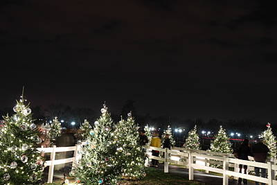 Christmas At The Ellipse - Washington Dc - 01136 Print by DC Photographer