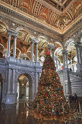 Photograph - Christmas At The Library Of Congress by Chris Reed