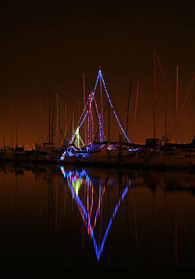 Photograph - Christmas At The Marina by Robert Woodward