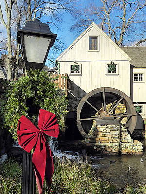 Photograph - Christmas At The Plimoth Grist Mill by Janice Drew