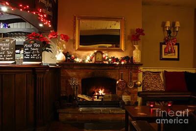 Photograph - Christmas At The Pub by Terri Waters