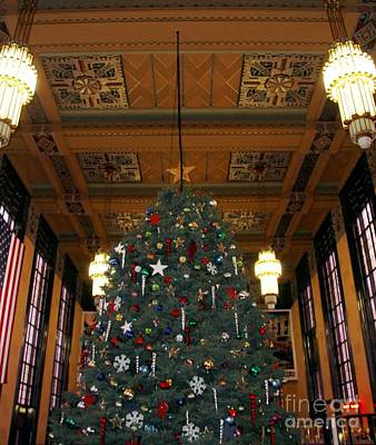 Photograph - Christmas At Union Station by Elizabeth Winter