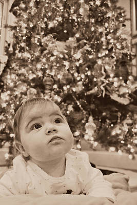 Photograph - Christmas Baby by Amber Summerow