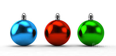 Decorating Photograph - Christmas Balls Collection by Michal Bednarek