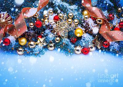 Photograph - Christmas Balls On Tree by Doc Braham