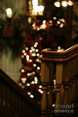 Photograph - Christmas Banister 1 by Linda Shafer