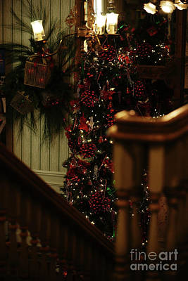 Photograph - Christmas Banister 2 by Linda Shafer