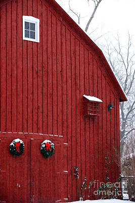 Photograph - Christmas Barn 4 by Linda Shafer