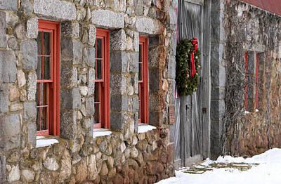 Photograph - Christmas Barn by Karin Pinkham