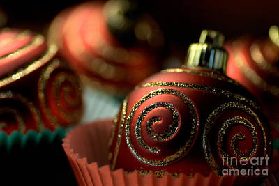 Christmas Bauble Cupcakes Art Print