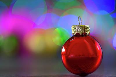 Bright Colours Photograph - Christmas Bauble by Wladimir Bulgar