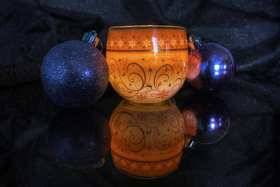 Christmas Candle Photograph - Christmas Baubles  by Ian Mitchell