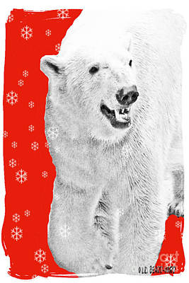Digital Art - Christmas Bear by Lizi Beard-Ward
