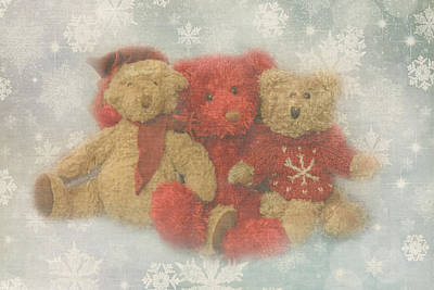 Photograph - Christmas Bears by Angie Vogel