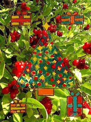 Christmas Berries Art Print by Patrick J Murphy