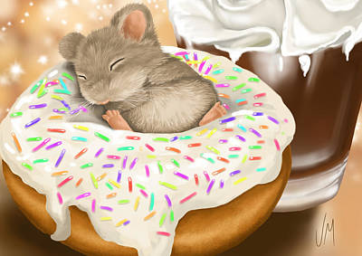 Donuts Painting - Christmas Binge by Veronica Minozzi