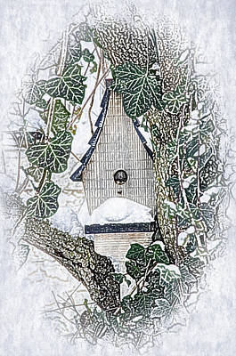 Drawing - Christmas Birdhouse by Crystal Wightman