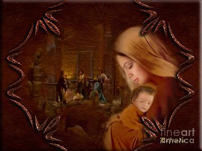 Nativity Digital Art - Christmas Blessings - Christmas Art By Giada Rossi by Giada Rossi
