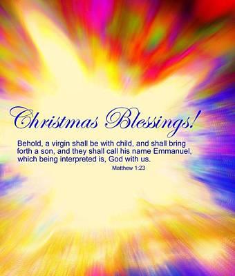 Incarnation Digital Art - Christmas Blessings by Kathleen Luther