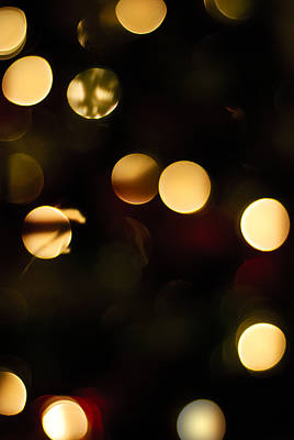Photograph - Christmas Bokeh by Christi Kraft