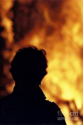 Photograph - Christmas Bonfire Bystander by Michael Hoard