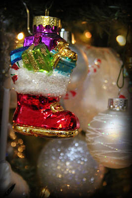 Photograph - Christmas Boot by Kelly Hazel