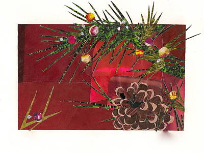 Mixed Media - Christmas Branches by Robin Birrell