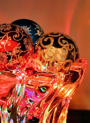 Christmas Bulbs Print by Kristin Elmquist