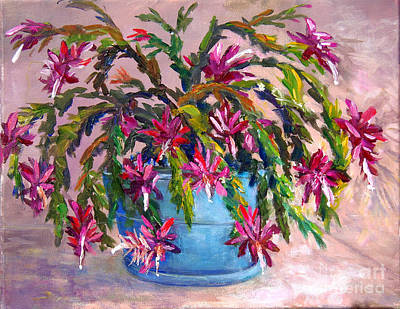 Painting - Christmas Cactus by Lou Ann Bagnall