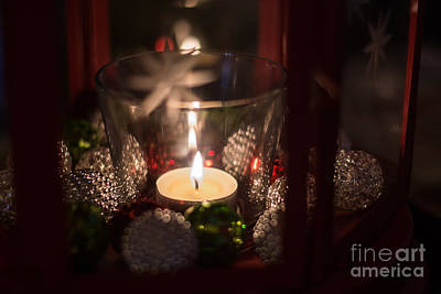 Photograph - Christmas Candle 2 by Cheryl Baxter